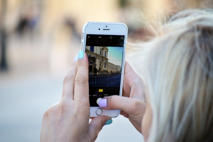 Social Media Girl Instagram Woman Smartphone