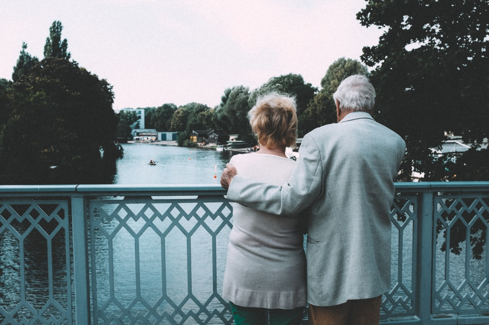 Old couple on bridge http://barnimages.com/