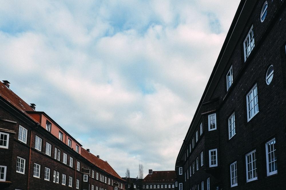 Sky between the houses