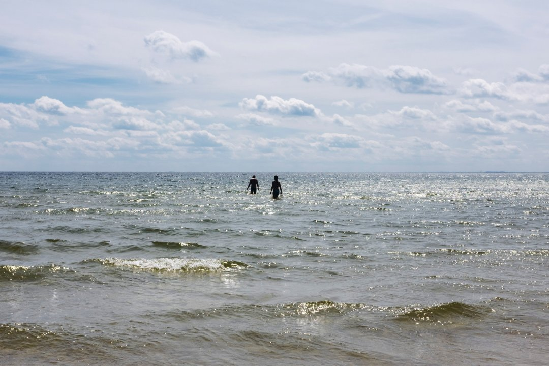 Swimmers in sea
